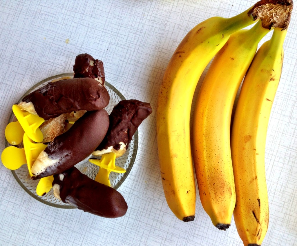 banana chocolate popsicle