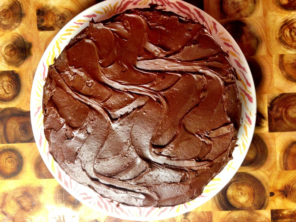 dark chocolate frosting recipe image