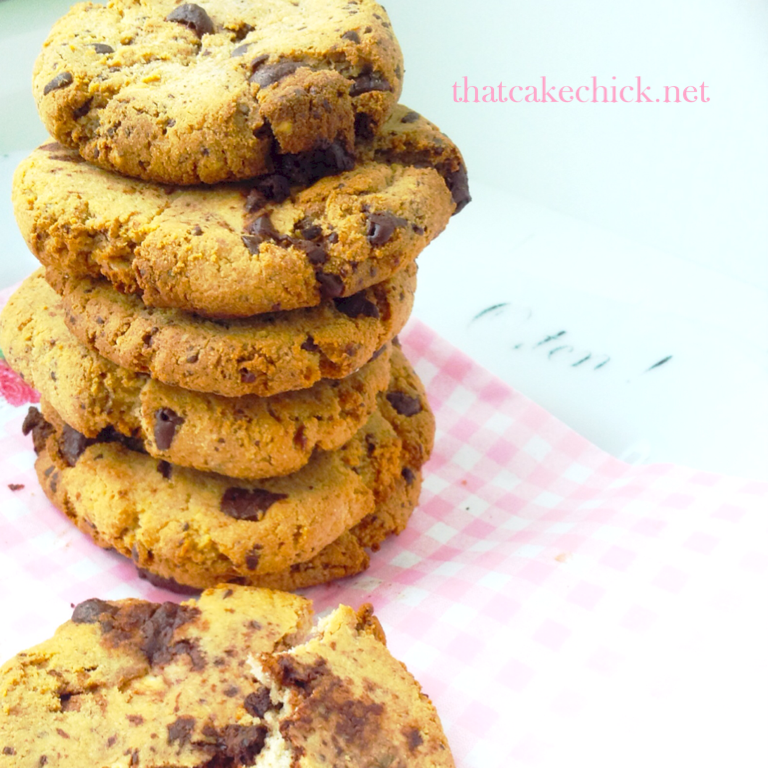 healthy chocolate chip almond cookies