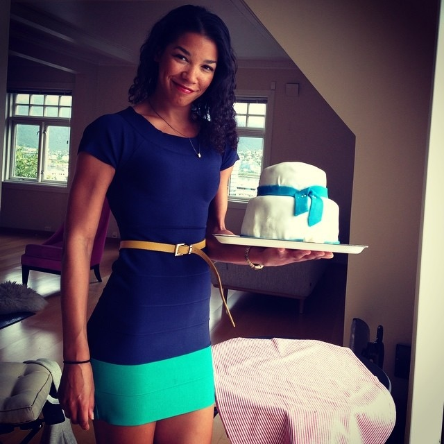 that cake chick with baby boy shower cake
